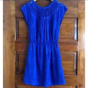 Anthropologie | Greylin Blue Textured Dress Size S